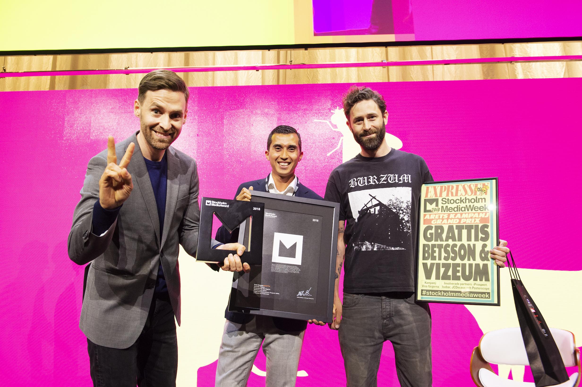 visat se grattis Vinnare StockholmMediaAward | Sveriges Mediebyråer visat se grattis